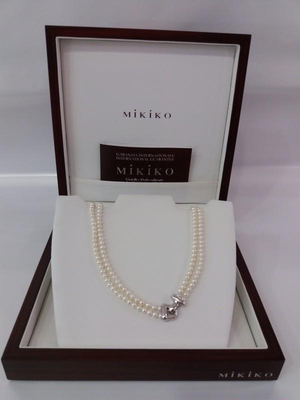 Collana Oro Bianco, Perle Donna MiKiKo MC1170O4FCI045